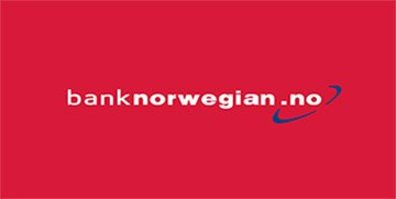 Bank Norwegian sin logo med nettadresse